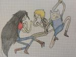 Marceline Pruld and Finn by Pruld