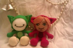 PewdieCry Bloody Trapland Plush Set by AliceOfTheRose