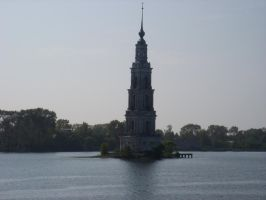 An old church above water by mamc1986