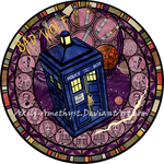 Stained Glass: Doctor Who by Akili-Amethyst