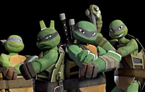 Dark Turtle Brothers by artgamerforever