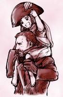 Cosette and Javert by tyakki