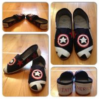 Captain America Shoes by Icepearl14