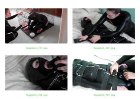 Catsuited Hooded Strapped and Vibed - 1 by BritBastard