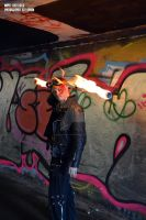 Satchel Charge Plays with Fire by DrowElfRocker