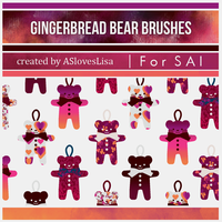 {SAI resources} Gingerbread Bear Brushes by ASlovesLisa
