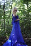 Forest lady - long blue dress - stock by Liancary-Stock