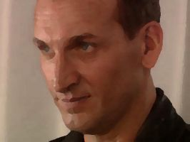 doctor christopher eccleston by GreetingsFromItaly