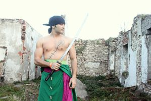 Roronoa Zoro (3D2Y) One Piece Cosplay by JckBlade