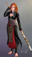 Full body commission - TheRedMinx by Asameth