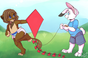 Kite Flying - Commission by strawberryneko33