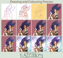 Colouring Process by lazzibum