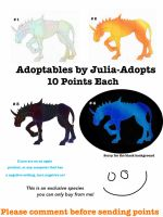 Exclusive Open Adoptables by Julia-adopts