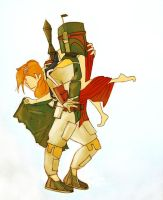 Boba and his Girl by ladyDoor