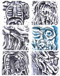Six Abstract Medical Drawings by thegreck