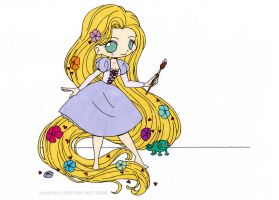 Rapunzel Chibi Colored by Maiko-Girl