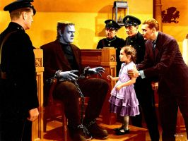 Colorized Ghost Of Frankenstein 1942 Universal Stu by dr-realart-md