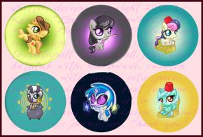 Pony Buttons (Series 3) by LinksLove