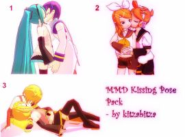 MMD Kissing Poses Pack Dl by kitzabitza