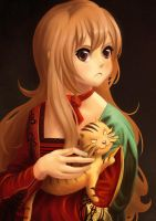 Toradora! - Girl with a Handheld Tiger by cubehero
