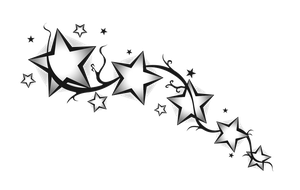 Star divider Black White by ToxiceStea