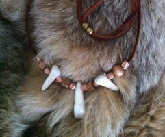 Bison Tooth Necklace by KonKataCreations
