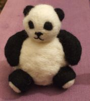 Needle-felted panda by Scarygothgirl