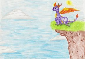 The cliff by IcelectricSpyro