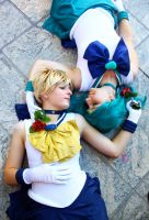 Sailor Neptune and Uranus by tysetsu