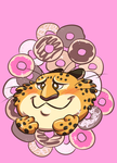 Clawhauser Donuts Decal by Mermaid-Kalo