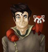 Bolin, Pabu and a cookie by ElinKarlsson