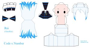 Code x Number Papercraft - Rei by Larry-San