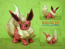 Flareon Papercraft by Lyrin-83