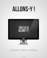 Allons-y Wallpaper by HelloMrBen