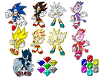 Sonic, Werehog Sonic, Super Sonic and his friends by 9029561