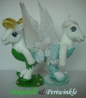 My little Pony Custom G3 Tinkerbell and Periwinkle by BerryMouse