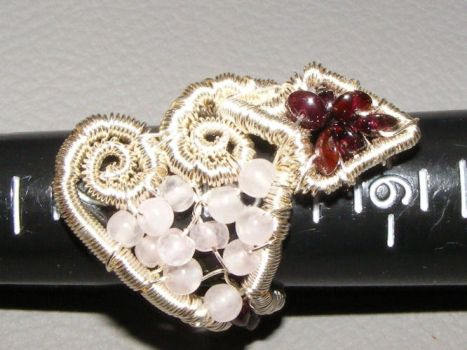 Pierced Heart ring by brillantcolors