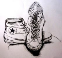 Chuck Taylors shoes by Nokiramaila