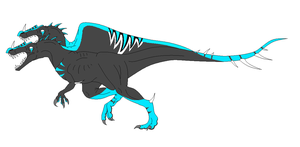 Neon Two-headed Spinosaurus Adopt CLOSED by DinoGirl500