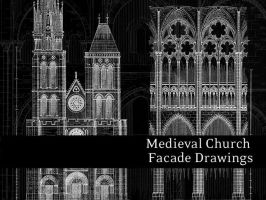 Medieval Church Facades by remittancegirl
