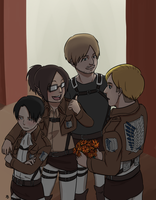 SNK: Danchou's birthday drawing by qianying