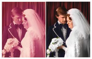 Parents Wedding Photo restoration by RaynePhotography