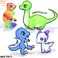 Dino doodles by foxtribe