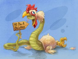 Chicken snake by dinowalker