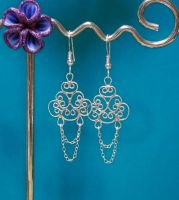 Silver Filigree Earrings by taarna-23