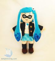 Chibi Schoolgirl Inkling Plushie by dollphinwing