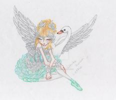 white swan Letho(colored) by Lethochimera