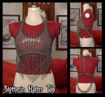 Slytherin Halter Top by crazed-fangirl