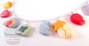 Marshmallow scented Lucky Charms bracelet by ilikeshiniesfakery