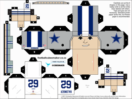 Brian Baldinger Cowboys Cubee by etchings13